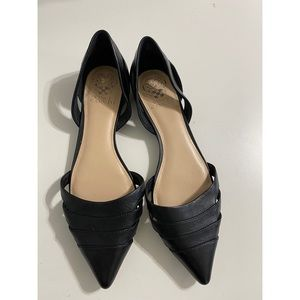 Vince Camuto Black leather D'orsay Flats - 10
